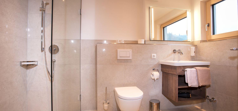 Badezimmer in der Turm Suite