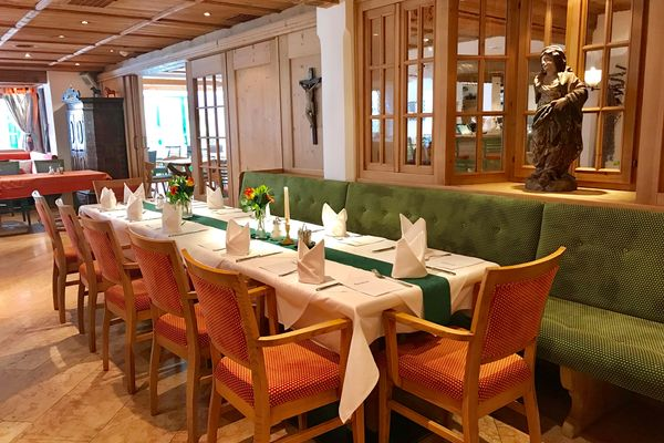 Speisesaal im Hotel Tipotsch