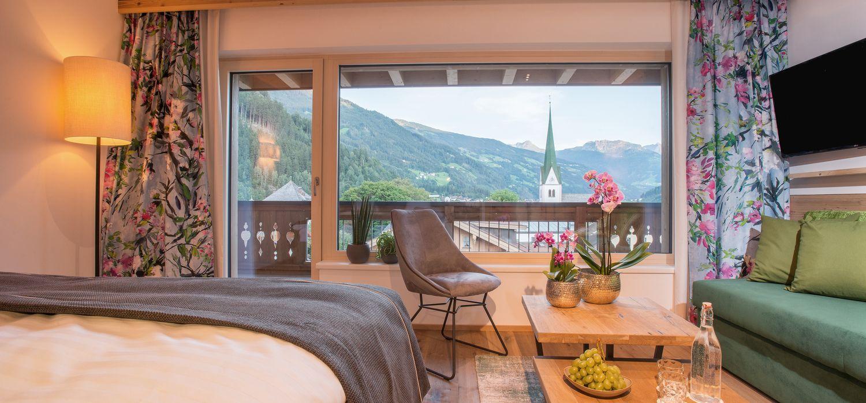 Wunderbarer Ausblick im Doppelzimmer Panorama