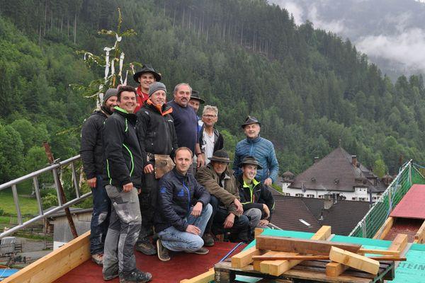 Bauarbeiter vom Hotel Tipotsch